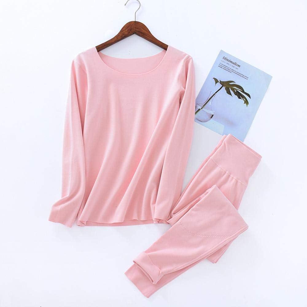 STJDM Nightgown,Thermal Underwear Tops and Bottoms Keep Warm Winter Pajamas Sets Women Sleepwear Quality Pyjamas XXL LightPink