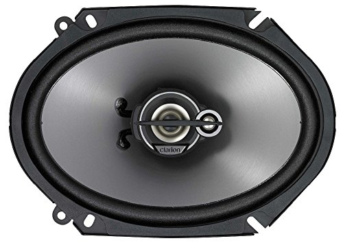 Clarion Mobile Electronics SRG6833C 300-Watt 6 x 8 Inches Good Series Custom Fit Multiaxial 3-Way Car Speakers, Set of 2