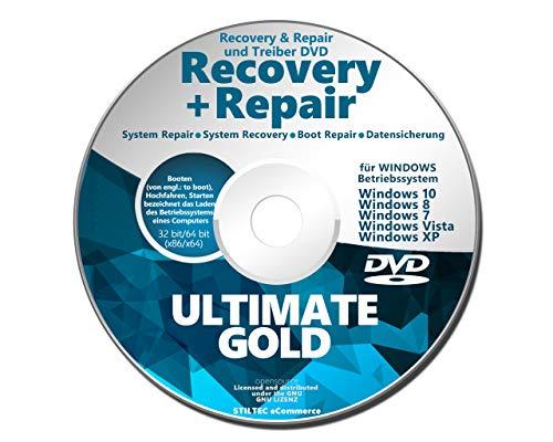 Recovery & Repair CD DVD für Windows 10 - 8 - Win 7 - XP 32 & 64 bit V.2021