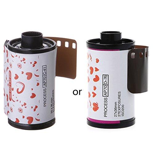 WEISHAZI Lomo Holga - Lámina de 35 mm para cámara fotográfica (ISO 200 27EXP, 135 formatos)