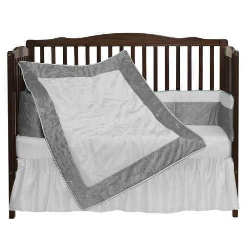 Review bkb Crocodile II Crib Bedding Set, Grey