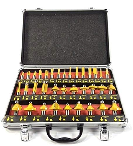"""ROUTER BITS 35pc SET 1/4"""" SHANK Tungsten Carbide Tips"""