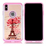 Sunshine_Tech iPhone Xs Max Case - Paris Eiffel Tower Pattern Shock-Absorption Hard PC and Inner Silicone Hybrid Dual Layer Armor Defender Protective Case Cover for Apple iPhone Xs Max 6.5 inch(2018)