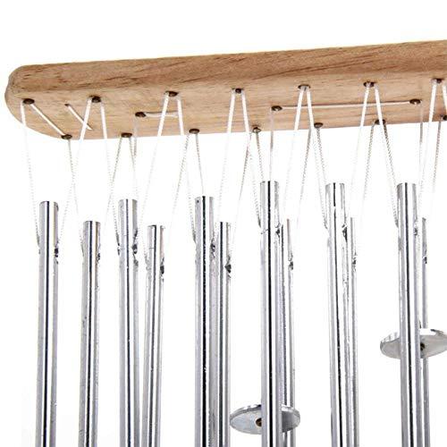 Campanelli Eolici Carillon Campanelli Eolici Musica Campanelli Eolici Mobili da Giardino Musica Campane di Metallo Suono Condotto di Legno S