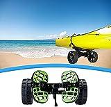Pulley Carrito Kayak Plegable,Remolque de Kayak de 2 Ruedas, pequeño Barco de Pesca,Montaje de Transporte Tabla de Surf,para Coche fácil Llevar Carro Tabla de Canoa de Playa Individual