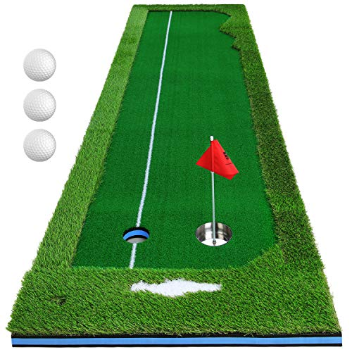 PGM Golf Artificial Putting Green Heavy Duty Turf Professional Golf Training Indoor for Home &...