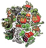 ZJJHX Fink Rat Green Cartoon Sticker Maleta Notebook Skateboard Computer Nevera Trolley Equipaje Sticker 10 Hojas