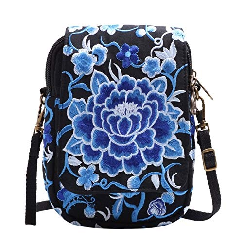 Mdsfe Nylon Messenger Bag For Women's 2019 Embroidered Shoulder Bag Wallet Messenger Bag Large Capacity Bag Сумки - Blue, a2