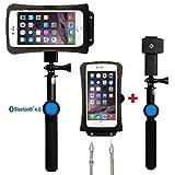 DiCAPac Action Handyhüllen Set für Oppo N3 / R5 / R5s / R7s / R9 / R9s - Handytaschen Set/Schutzhüllen Set inkl. Halterset mit Bluetooth Fernauslöser, Selfie Stick