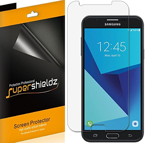 (6 Pack) Supershieldz for Samsung (Galaxy J7 Prime) Screen Protector, High Definition Clear Shield (PET)
