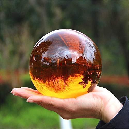 Sfere Decorative 30mm-100mm Sfera di Cristallo Ambra Sfera di Ossidiana Sfera di Cristallo Decorazione in Pietra curativa Feng Shui Decor Fotografia Ball(Colore:100mm,Dimensioni:Senza Base)