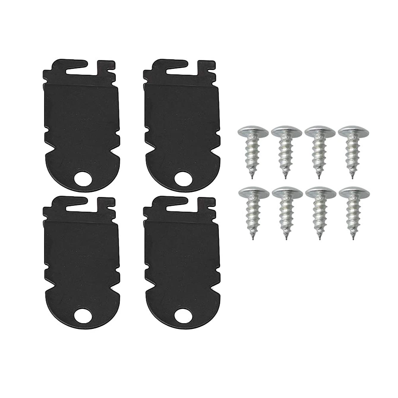 Mxfans 4 x PS1487167 8212560 Dishwasher Side Mounting Bracket Kit w/Screws