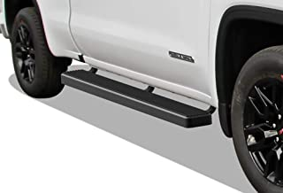 APS iBoard Running Boards 6 inches Matte Black Custom Fit 2019-2020 Chevy Silverado GMC Sierra 1500 Double Cab Extended Cab (Exclude 19 1500 LD) (Nerf Bars Side Steps Side Bars)