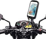 BRAINWIZZ Support Moto/Scooter Etanche avec Bras articulé pour iPhone 6 Plus et iPhone 7 Plus (5,5') / Taille 77.8mm x 158.1mm