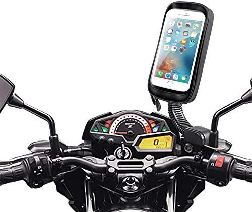 Brainwz - Soporte para moto y scooter (impermeable, con brazo articulado para iPhone XS Max, Samsung Galaxy Note 9 y Smartphones)