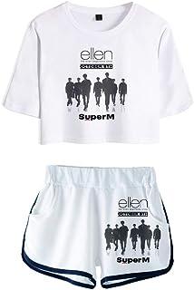 NCTCITY Kpop ATEEZ T-Shirt Tracksuits 3D Printed Summer Two Pieces Sets Sport Short Sleeve Crop Tops and Shorts Set HONGJOONG SEONGHWA Yunho YEOSANG SAN MINGI WOOYOUNG JONGHO