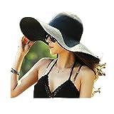 Sombrero de Playa con ala Ancha Plegable para Mujer Sombrero