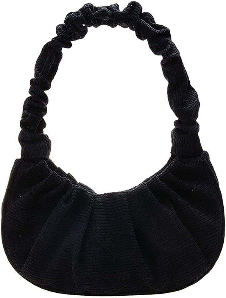 Gabbi Bag, Ladies Pleated Underarm Shoulder Hobo Bag Vegan Leather Retro Fashion Casual