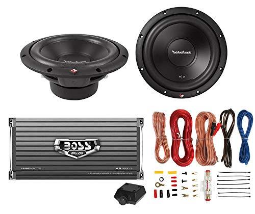 "2) Rockford Fosgate R2D4-10 10"" 1000W 4-Ohm Car Subs + 1600W 2-Ch Amp + Amp Kit"