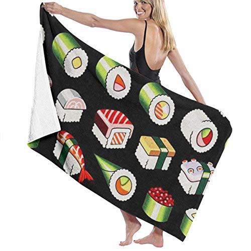 pas cher un bon chillChur-DD Serviette de bain Serviette de bain motif sushi Serviette de plage multifonctionnelle…