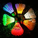 Inngree LED Badminton Birdies [6 Pack] Colorful LED Shuttlecock Dark Night Goose Feather Glow Birdies Lighting Outdoor Indoor Sport Activities (Colourful) shuttlecocks Dec, 2020