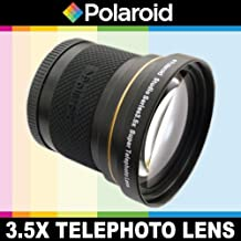 Polaroid Studio Series 3.5X HD Super Telephoto Lens, Includes Lens Pouch and Cap Covers For The Nikon D40, D40x, D50, D60, D70, D80, D90, D100, D200, D300, D3, D3S, D700, D3000, D5000, D3100, D3200, D3300, D7000, D5100, D4, D4s, D800, D800E, D600, D610, D7100, D5200, D5300 Digital SLR Cameras Which Have Any Of These (18-55mm, 55-200mm, 50mm, 40mm, 28mm) Nikon Lenses