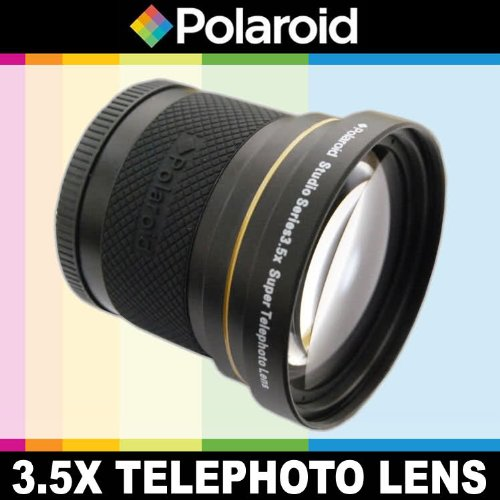 Polaroid Studio Series 3.5X HD Super Telephoto Lens, Includes Lens Pouch and Cap Covers For The Pentax K-3, K-50, K-500, K-01, K-30, K-X, K-7, K-5, K-5 II, K-R, 645D, K20D, K200D, K2000, K10D, K2000, K1000, K100D Super, K110D,ist D,ist DL,ist DS,ist DS2 Digital SLR Cameras Which Has Any Of These (55-300mm, 75-300mm, 18-50mm, 28-80mm, 31mm) Pentax L...