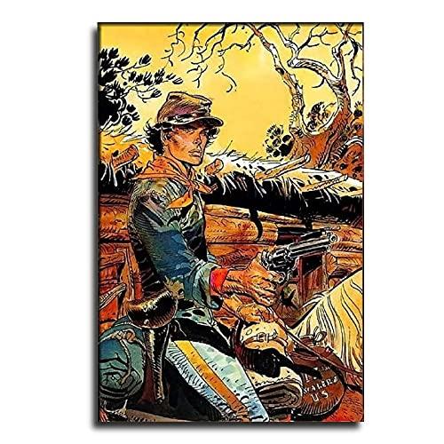 CUEVASjiamu Mobius Comics Leinwand-Kunst-Poster und Wandkunstdruck, modernes Familienschlafzimmer, 60 x 90 cm