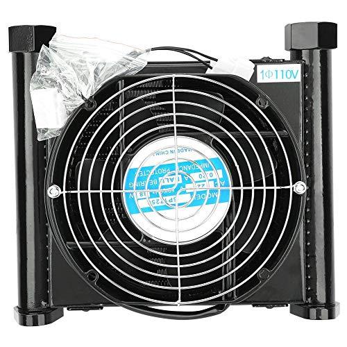 Enfriador de aire hidráulico, 10L/min Enfriador de aire hidráulico Radiador de aceite refrigerado por aire Intercambiador de calor hidráulico(110V)