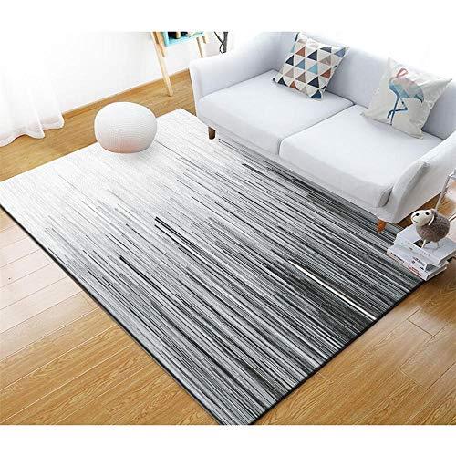 alfombra infantiles La decoración del dormitorio moderno rectangular de la alfombra gris de la sala de estar es suave y no se desvanece Alfombra de habitación de niña alfombra exterior terraza 80X120C