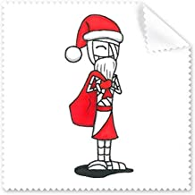 DIYthinker Christmas Santa Claus Horus Hat Bag Glasses Cloth Cleaning Cloth Phone Screen Cleaner 5Pcs Gift