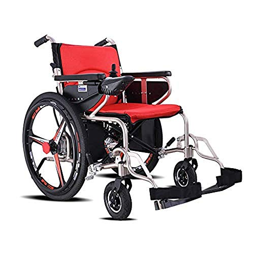 WENZHEN Leichter Zusammenklappbarer Elektrorollstuhl Mit Verstellbarem Kippschutz Für Schwere Motorisierte Rollstühle@12Ah