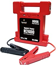 Super Compact 26000mAh 12/24V switchable Heavy Duty Battery Jump Starter w/Lamp 800A Peak Current