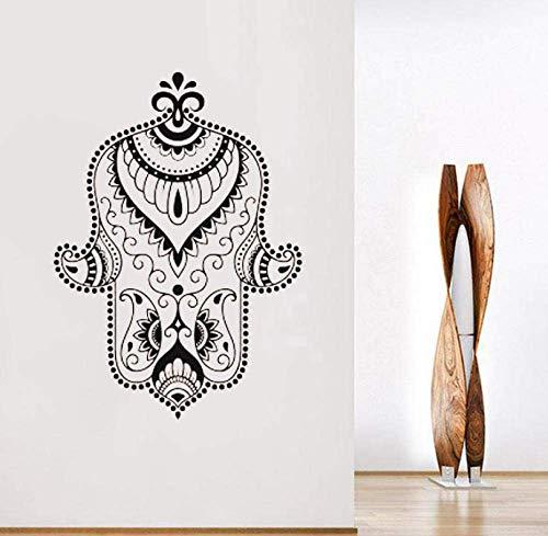 Hand Der Göttin Vinyl Aufkleber Buddhismus Symbol Hamsa Wandbehang Boho Stil Hand Der Fatima Aufkleber Indisches Amulett Murals42X58Cm