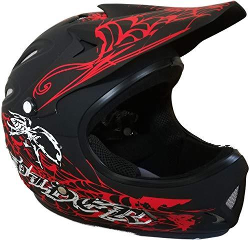 Protectwear Downhill casco Freeride casco BMX casco Ragno rosso nero opaco FH 40, taglia XL