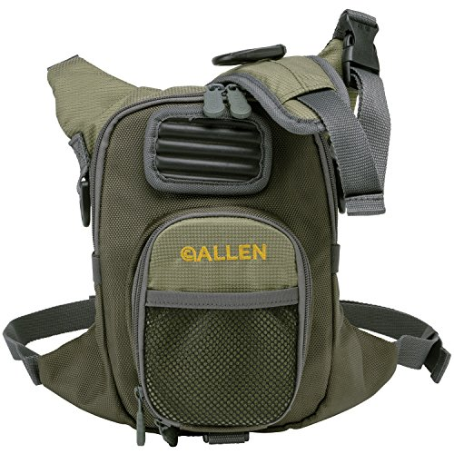 Allen Fall River Fishing Chest Pack, Olive , 33-inch