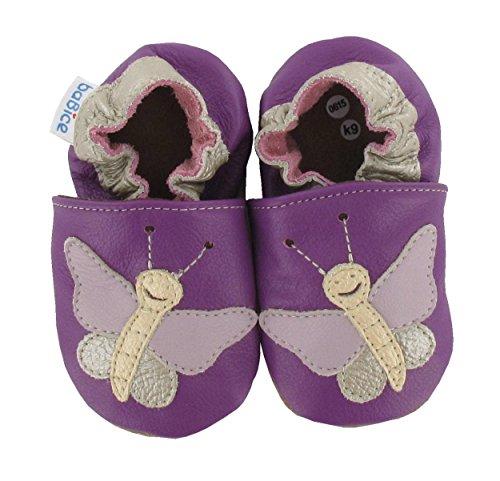 Krabbelschuhe Schmetterling 'Violetta' in 3 Farben von baBice, Größe Schuhe:26/27 (30-36 Mon);baBice Schuhe:lila