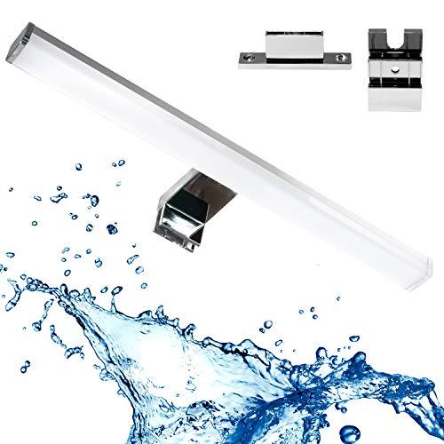 Lampada da specchio LED 3 in 1 per bagno, 60 cm, 12 W, 960 lm, 4000 K, 230 V, impermeabile, IP44, bianco neutro, lampada da bagno, luce per il trucco, per armadio, lampada da incasso
