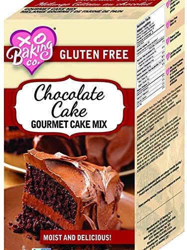 XO Baking Co. Chocolate Cake Mix - Flavorful Non-GMO Certified Chocolate Cake Baking Mix - No Preservatives or Artificial Flavors (1 Pack)