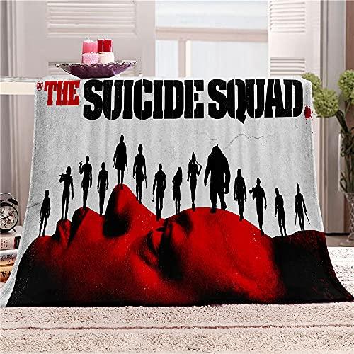 Suicide Squad - Manta de microfibra (8,100 x 130 cm), diseño de dibujos animados