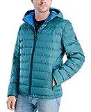 Michael Kors Men's MMK410015 Down Packable Puffer Jacket - Atlantic Green - S