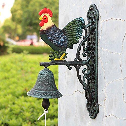 Wanddecoratie MEIDUO Amerikaanse landelijke ijzeren deurbel opknoping tuin muur kunst