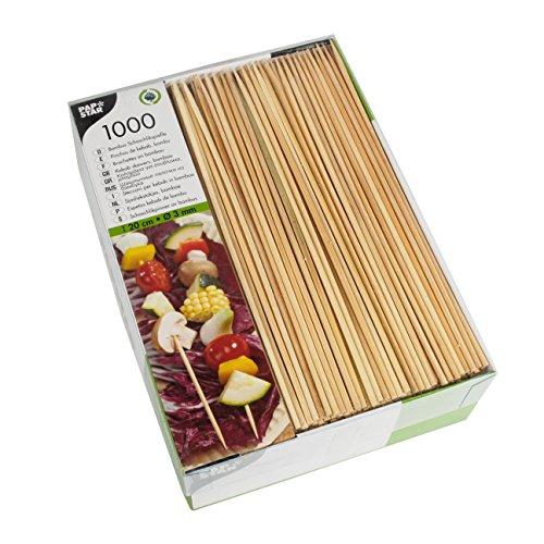 PAPSTAR 166581000Brochetas, bambú, diámetro de 3mm, 20cm