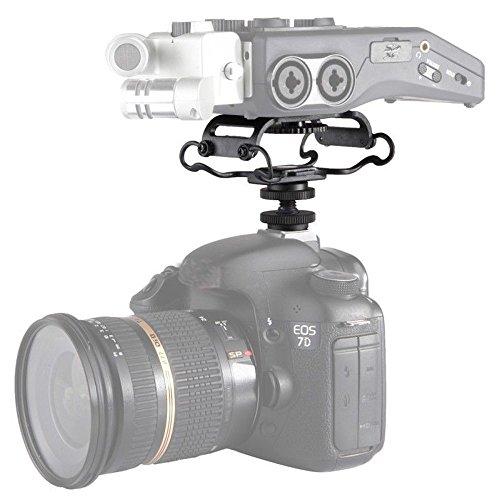 Yunchenghe BY-C10 Microphone Shock Mount para Zoom H4n / H5 / H6, para Sony Tascam DR-40 / DR-05 Grabador de micrófonos Shockmount para Olympus Tascam