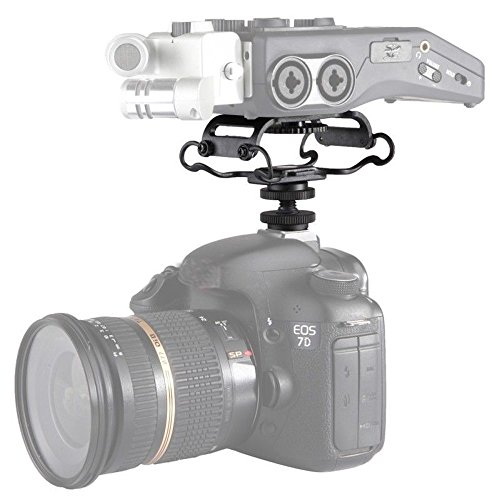 Market&YCY BY-C10 Microfono Shock Mount per Zoom H4n / H5 / H6, per Sony Tascam DR-40 / DR-05 Microfono Registratore Shockmount per Olympus Tascam