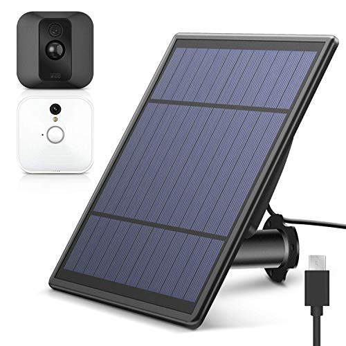 Hmount Solar Panel for Blink XT XT 2 Security Camera, Wall Mount Outdoor Weather Proof Solar Power Charging Panel for Blink XT XT 2 Home Security Camera System