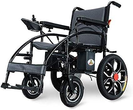 AYHa Silla de ruedas eléctrica silla de ruedas plegable plegable de peso ligero de ancianos discapacitados automático inteligente de la batería de litio de cuatro ruedas Vespa de carga 150Kg, Power 2