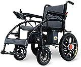 AYHa Silla de ruedas silla de ruedas, minusválidos de cuatro ruedas Silla de ruedas eléctrica plegable portátil inteligente automático scooter 250W (amor silla de ruedas, el cuidado de personas con d