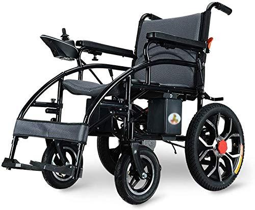 AYHa Silla de ruedas eléctrica silla de ruedas plegable plegable de peso ligero de ancianos discapacitados automático inteligente de la batería de litio de cuatro ruedas Vespa de carga 150Kg,