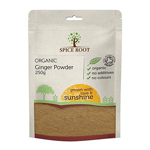 Polvere di zenzero biologica 250g (Bio zenzero polvere, Organic ginger powder) - Certificato biologico, Qualità premium | Gusto e aroma eccellenti | Vegan | Eccellente per la digestione
